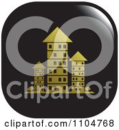 Clipart Black And Gold Investment Property Apartment Building Icon Royalty Free Vector Illustration by Lal Perera