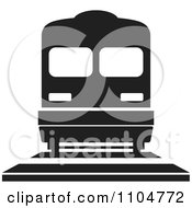 Clipart Black And White Train Royalty Free Vector Illustration