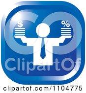 Clipart Blue Business Man Finance Icon Royalty Free Vector Illustration