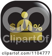 Clipart Bold And Black Business Man Finance Icon Royalty Free Vector Illustration