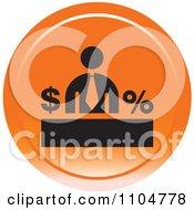 Clipart Orange Business Man Finance Icon Royalty Free Vector Illustration