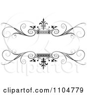 Clipart Ornate Black Swirl And Crown Wedding Frame Royalty Free Vector Illustration
