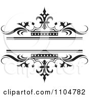 Clipart Ornate Black Wave And Crown Wedding Frame Royalty Free Vector Illustration by Lal Perera #COLLC1104782-0106