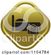 Clipart Gold Lodging Hotel Icon Royalty Free Vector Illustration