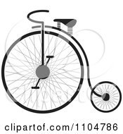 Clipart Black And White Penny Farthing Bike Royalty Free Vector Illustration by Lal Perera