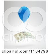 Clipart 3d Balloon Lifting A Stack Of Cash Money Royalty Free CGI Illustration