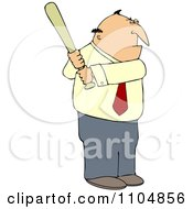 Clipart Businessman Batting Royalty Free Vector Illustration by djart