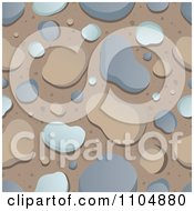 Seamless Background Of Stones On Brown