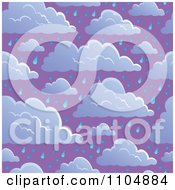 Clipart Seamless Cloud And Rain Sky Background Royalty Free Vector Illustration