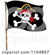 Clipart Olly Roger Pirate Flag Royalty Free Vector Illustration
