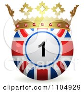 Clipart 3d Union Jack Flag Bingo Ball With A Crown Royalty Free Vector Illustration by elaineitalia