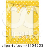 Clipart Patterned Bunting Flags And Polka Dots On Yellow With Copyspace Royalty Free Vector Illustration by elaineitalia