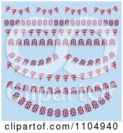 Clipart Union Jack Flag Bunting Banners On Blue Royalty Free Vector Illustration