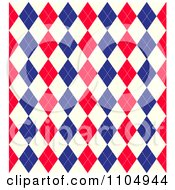 Seamless Red White And Blue Union Jack Or American Arygle Diamond Pattern