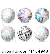Clipart 3d Spheres With Colorful Patterns Royalty Free Vector Illustration