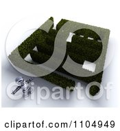 Clipart 3d Robot Standing Outside A Bush Maze Royalty Free CGI Illustration