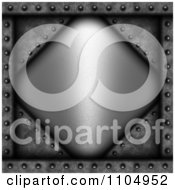 Clipart 3d Grungy Metal Diamond And Riveted Concrete Background Royalty Free CGI Illustration