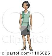 Friendly Asian Secretary In A Skirt