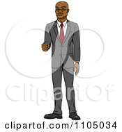 Clipart Happy White Businessman Holding Out His Knuckles Royalty Free Vector Illustration by Cartoon Solutions