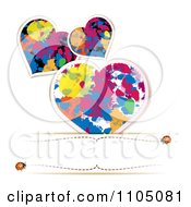 Clipart Splatter Hearts And Ladybugs With Copyspace Royalty Free Vector Illustration