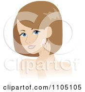Clipart Woman Washing Her Face Or Applying Cream Royalty Free Vector Illustration