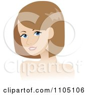 Clipart Pretty Blue Eyed Woman With A Clear Complexion Royalty Free Vector Illustration by Rosie Piter