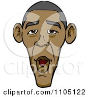 Caricature Face Of A Surprised Barack Obama