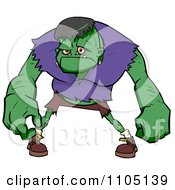Clipart Frankenstein Leaning Forward Royalty Free Vector Illustration