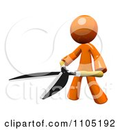 Poster, Art Print Of 3d Orange Man With Pruning Clippers