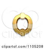 3d Gold Cyrillic Small Letter Round Omega Clipart Royalty Free Vector IllustrationClipart Royalty Free Vector Illustration Clipart Royalty Free Vector Illustration