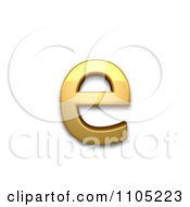 3d Gold Small Letter E Clipart Royalty Free Vector Illustration