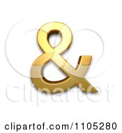 3d Gold Ampersand Clipart Royalty Free Vector Illustration