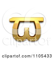 3d Gold Greek Pi Symbol Clipart Royalty Free CGI Illustration