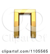 3d Gold Greek Capital Letter Pi Clipart Royalty Free CGI Illustration