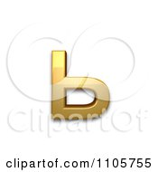 3d Gold Cyrillic Small Letter Soft Sign Clipart Royalty Free CGI Illustration