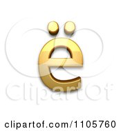 3d Gold Cyrillic Small Letter Io Clipart Royalty Free CGI Illustration