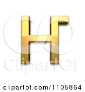 3d Gold Cyrillic Capital Ligature En Ghe Clipart Royalty Free CGI Illustration by Leo Blanchette