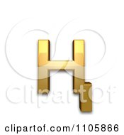 3d Gold Cyrillic Small Letter En With Descender Clipart Royalty Free CGI Illustration by Leo Blanchette