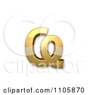 3d Gold Cyrillic Small Letter Abkhasian Ha Clipart Royalty Free CGI Illustration by Leo Blanchette