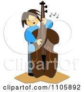 Bass Player Plucking Strings