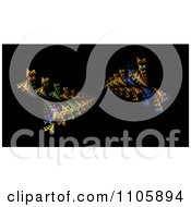 Clipart Fractal Burst On Black Royalty Free Illustration