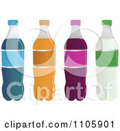 Four Soda Bottles With Blank Labels