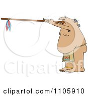 Clipart Native American Man Using A Dart Blowgun Royalty Free Vector Illustration by djart