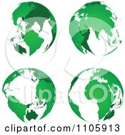 Clipart Green Globes Royalty Free Vector Illustration by Andrei Marincas