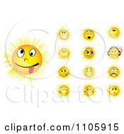 Clipart Yellow Sun Faces Royalty Free Vector Illustration by Andrei Marincas