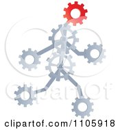 Clipart Runnin Gear Man Royalty Free Vector Illustration by Andrei Marincas