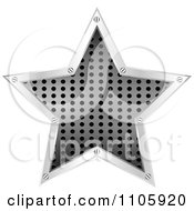 Clipart Perforated Metal Star With Silver Trim Royalty Free Vector Illustration