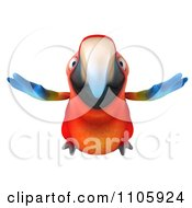 Clipart 3d Macaw Parrot Flying 1 Royalty Free CGI Illustration
