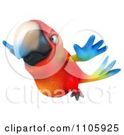 Clipart 3d Macaw Parrot Flying 2 Royalty Free CGI Illustration