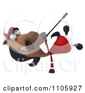 Clipart 3d Polo Horse Doing A Cartwheel Royalty Free CGI Illustration by Julos